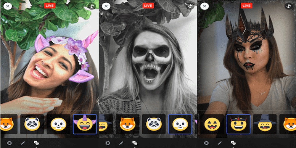 facebook snapchat maskerleri