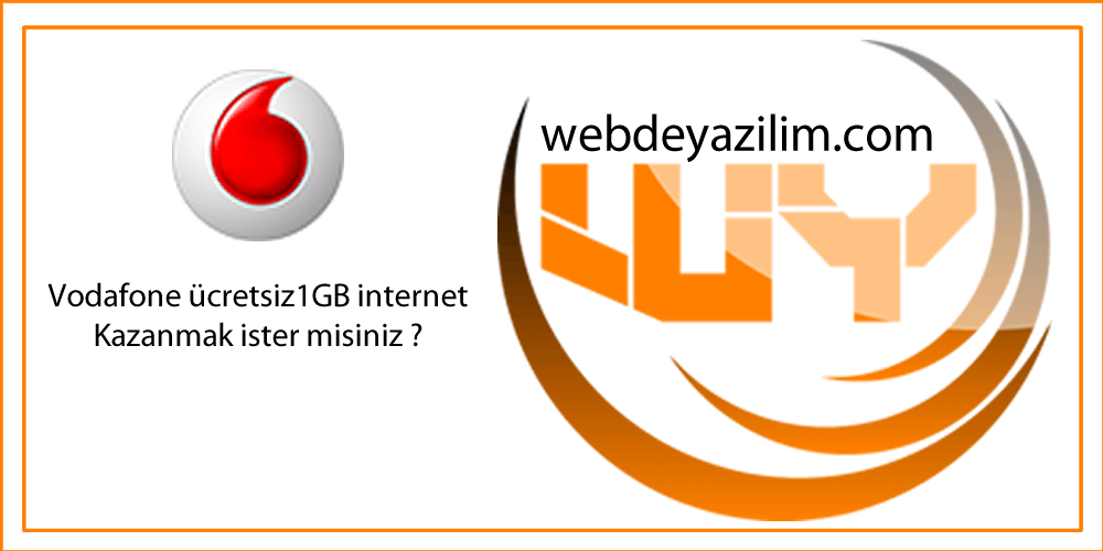 Vodafone Ücretsiz internet 2017