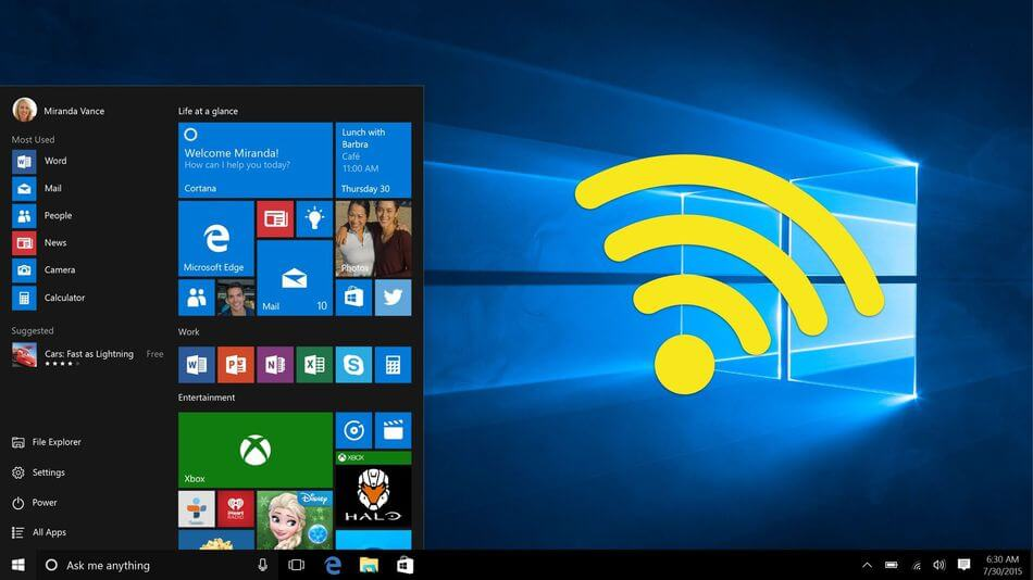 windows 10 kablolu interneti kablosuz yapma