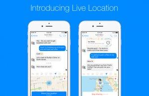 Facebook Messenger'da Canlı Konumlar 1 saatliğine paylaşılabilecek !