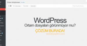 wordpress ortam dosyaları görünmüyor
