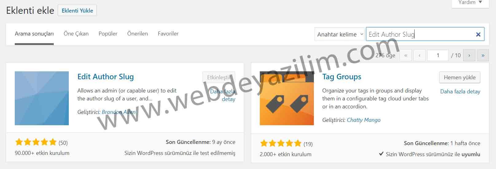 WordPress yazar linki düzenleme