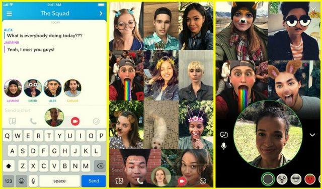 snapchat grup aramaları